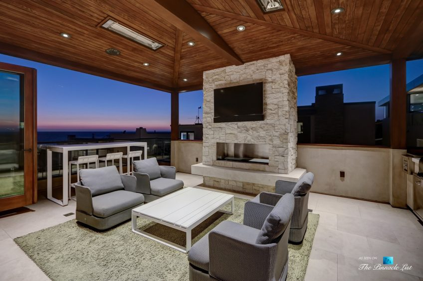 205 20th Street, Manhattan Beach, CA, USA - Night Back Deck - Luxury Real Estate - Ocean View Home