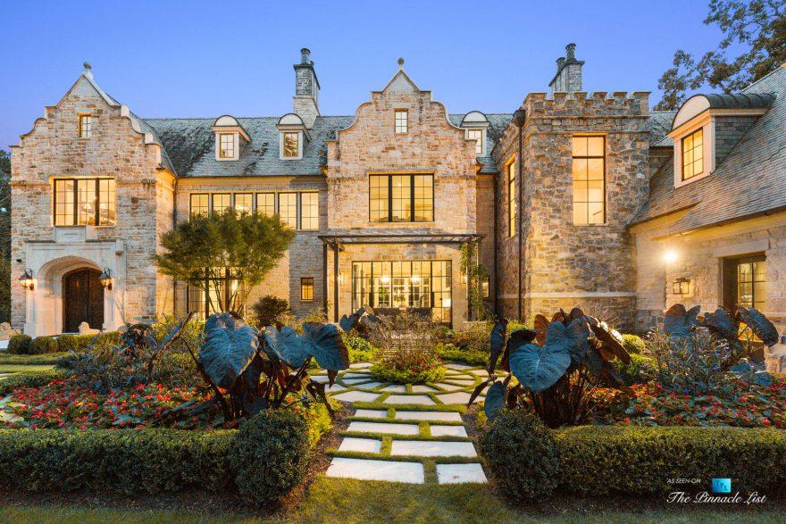 1150 W Garmon Rd, Atlanta, GA, USA - Twilight Front View - Luxury Real Estate - Buckhead Estate Home