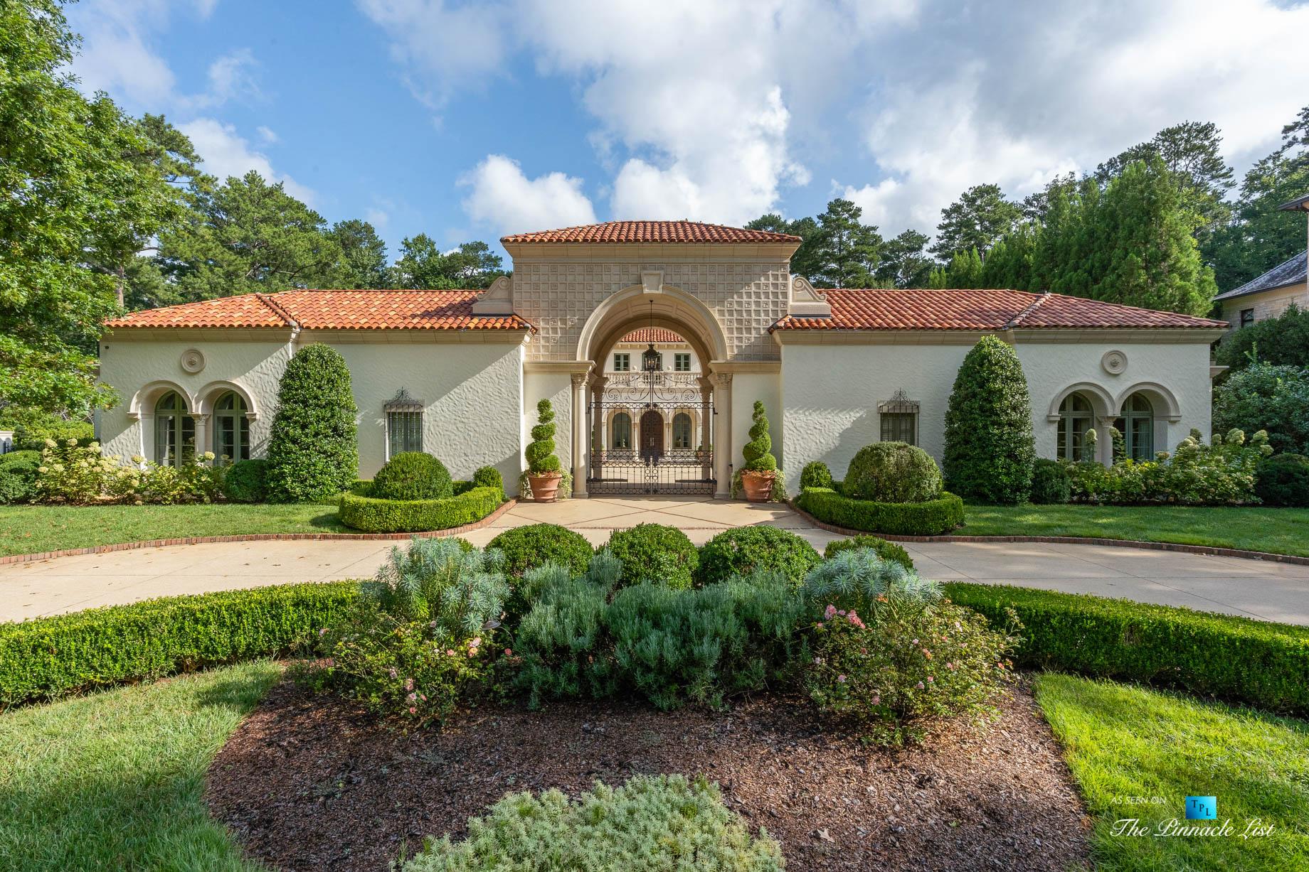 439 Blackland Rd NW, Atlanta, GA, USA - Front Yard Entrance Garden View - Luxury Real Estate - Berndsen Custom Mansion Home