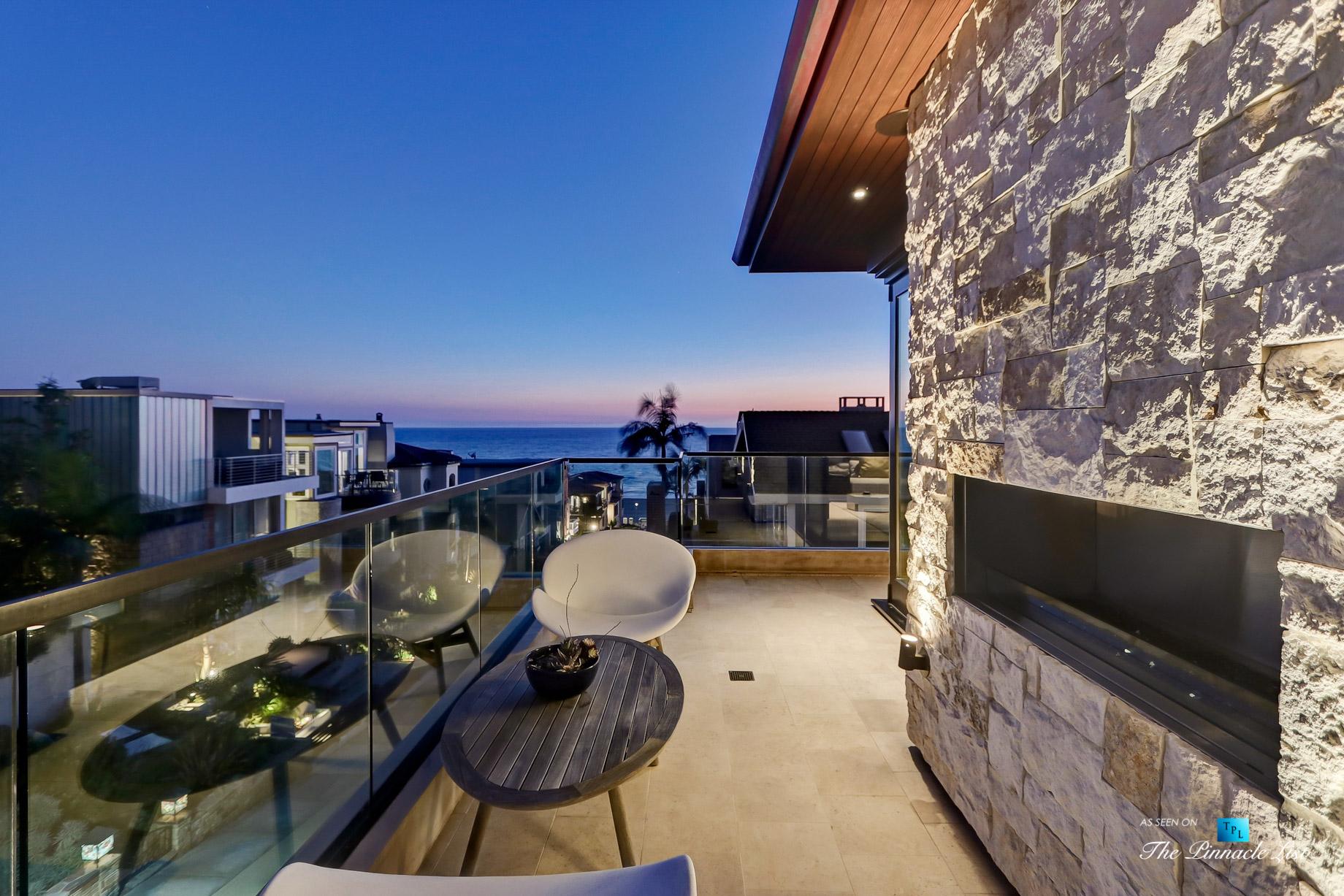 Luxury Real Estate - 205 20th Street, Manhattan Beach, CA, USA - Night Deck Ocean View