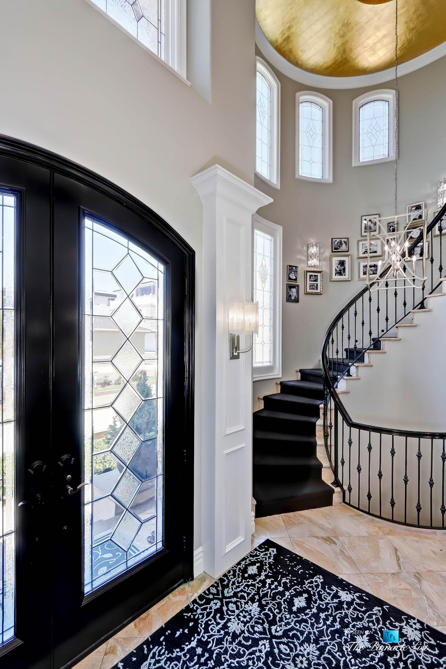 Luxury Real Estate – 1920 The Strand, Manhattan Beach, CA, USA – Foyer Stairs