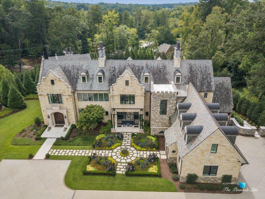 1150 W Garmon Rd, Atlanta, GA, USA - Drone Property View - Luxury Real Estate - Buckhead Estate Home