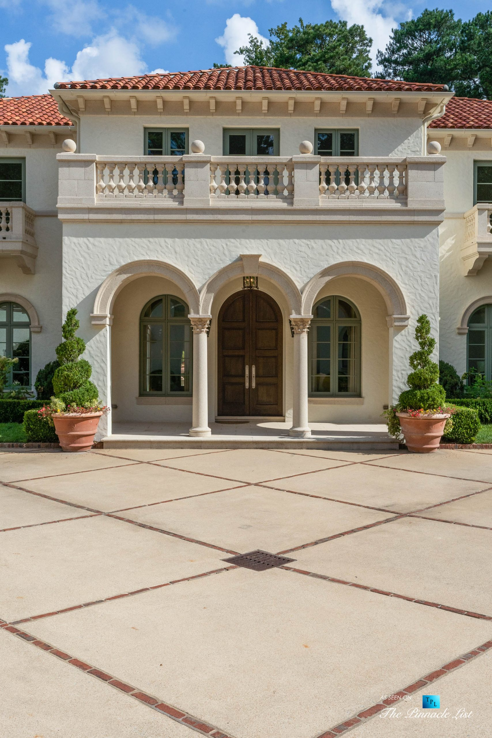 439 Blackland Rd NW, Atlanta, GA, USA – Front Door Entrance View – Luxury Real Estate – Berndsen Custom Mansion Home