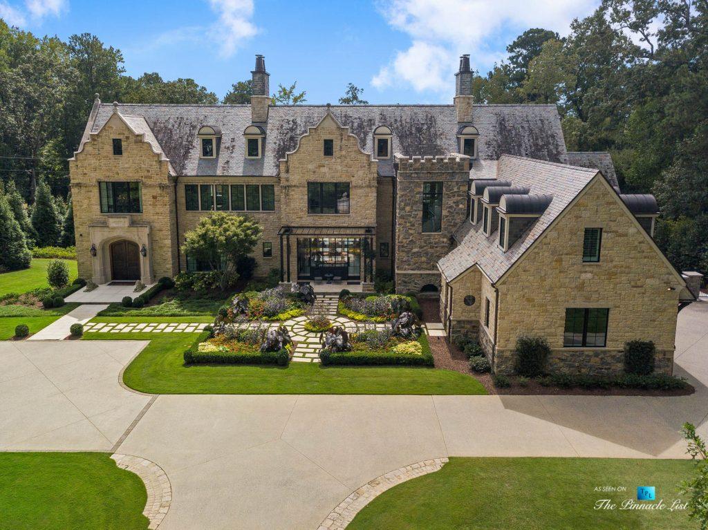 1150 W Garmon Rd, Atlanta, GA, USA - Drone House View - Luxury Real Estate - Buckhead Estate Home