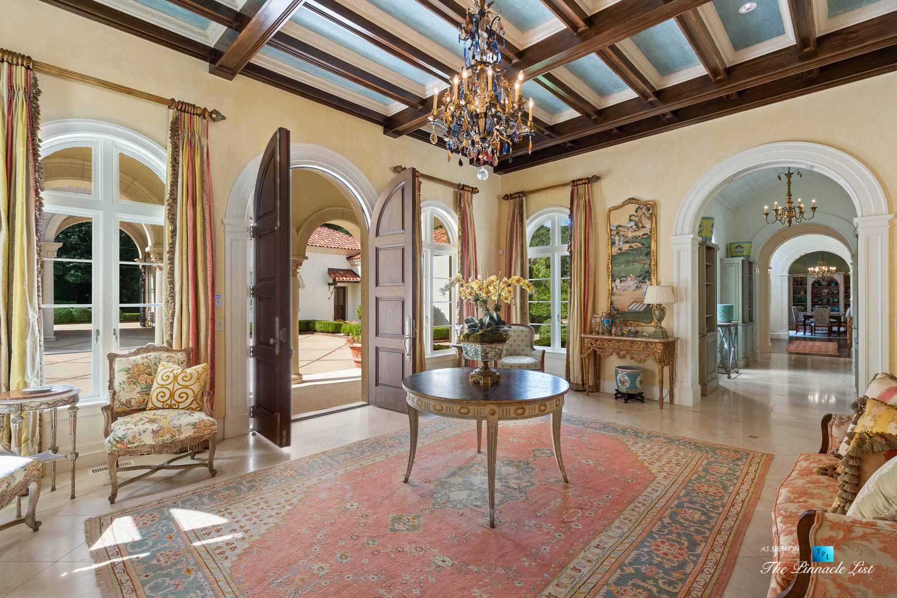 439 Blackland Rd NW, Atlanta, GA, USA - Sitting Area - Luxury Real Estate - Tuxedo Park Mediterranean Mansion Home