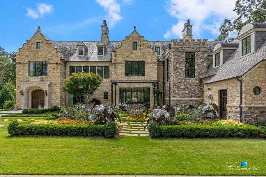 1150 W Garmon Rd, Atlanta, GA, USA - Front House View - Luxury Real Estate - Buckhead Estate Home