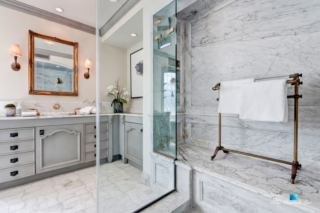 2806 The Strand, Hermosa Beach, CA, USA - Master Bathroom and Marble Shower - Luxury Real Estate - Oceanfront Home
