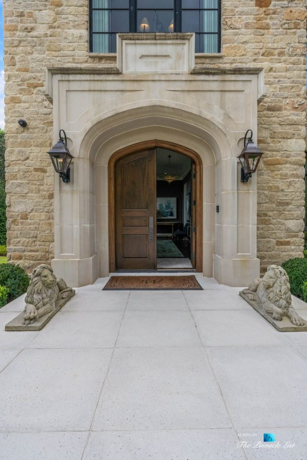 1150 W Garmon Rd, Atlanta, GA, USA - Front Door - Luxury Real Estate - Buckhead Estate Home