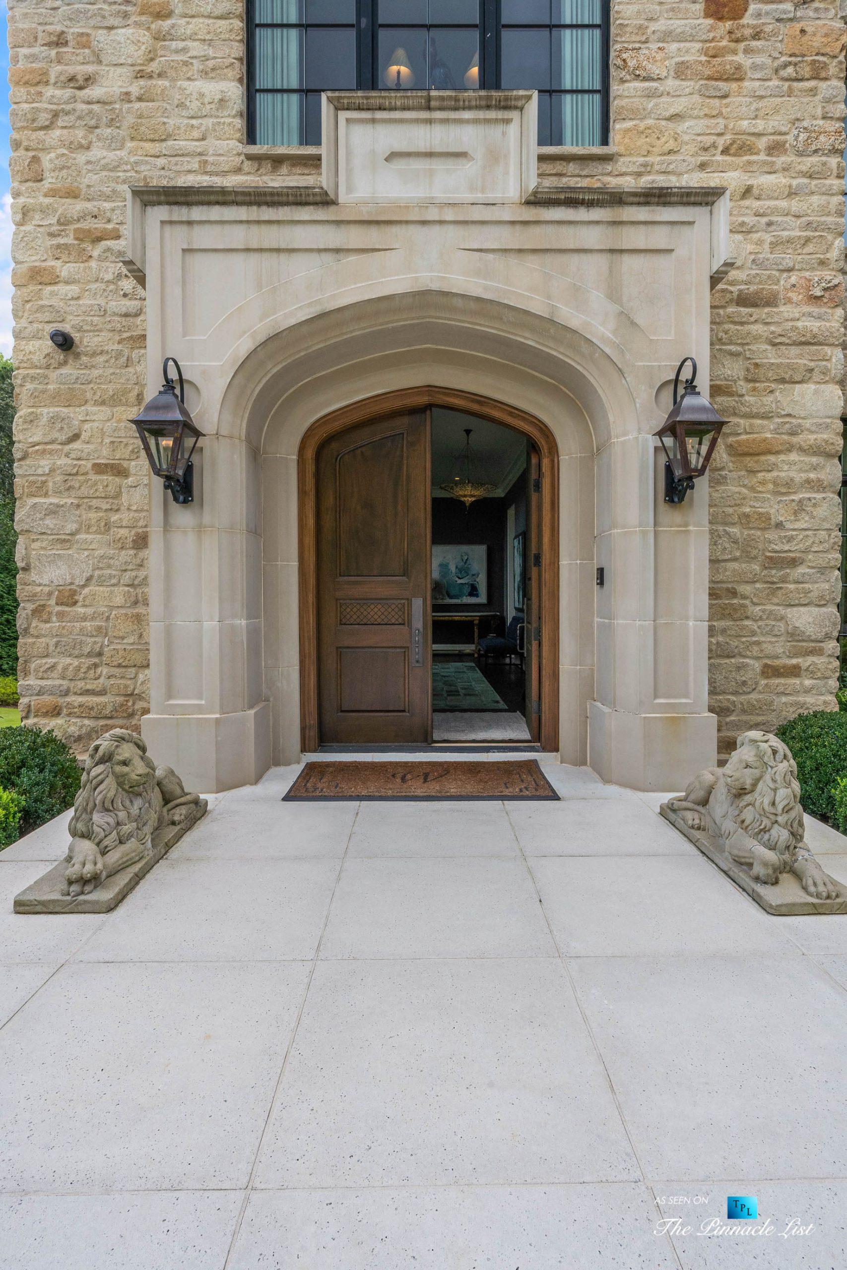 1150 W Garmon Rd, Atlanta, GA, USA – Front Door – Luxury Real Estate – Buckhead Estate Home