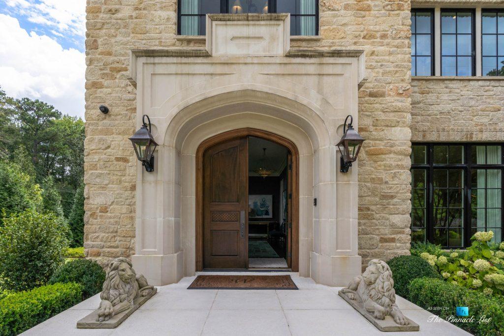 1150 W Garmon Rd, Atlanta, GA, USA - Front Door Entrance - Luxury Real Estate - Buckhead Estate Home