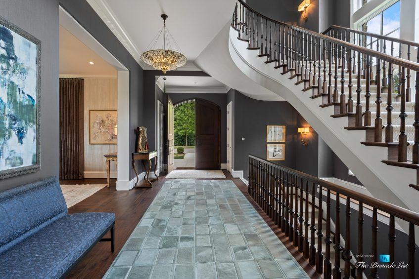 1150 W Garmon Rd, Atlanta, GA, USA - Front Door Entrance Foyer - Luxury Real Estate - Buckhead Estate Home