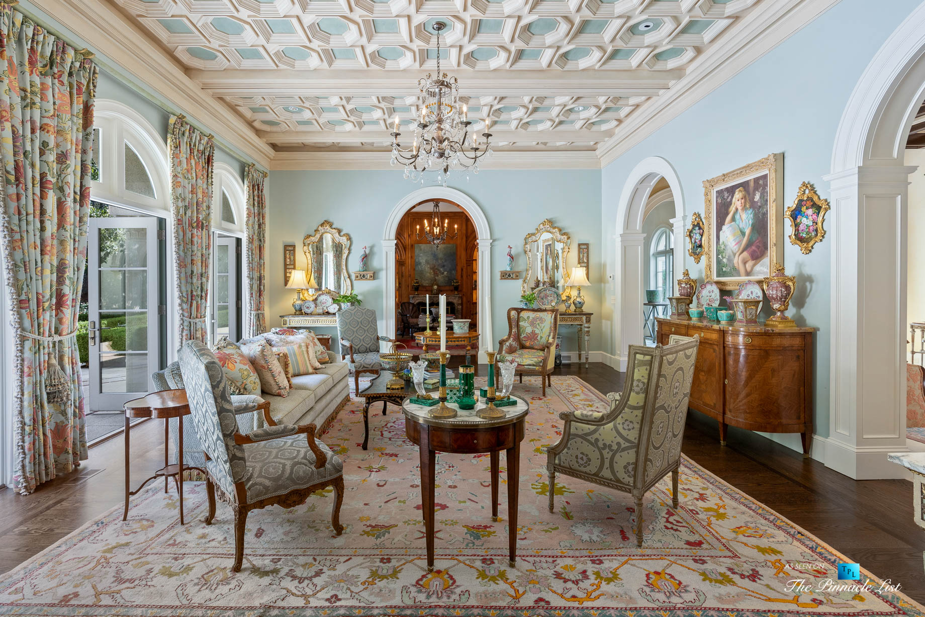 439 Blackland Rd NW, Atlanta, GA, USA – Formal Living Room – Luxury Real Estate – Tuxedo Park Mediterranean Mansion Home