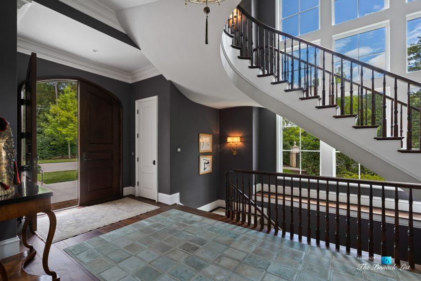 1150 W Garmon Rd, Atlanta, GA, USA - Front Door and Foyer Stairs - Luxury Real Estate - Buckhead Estate Home