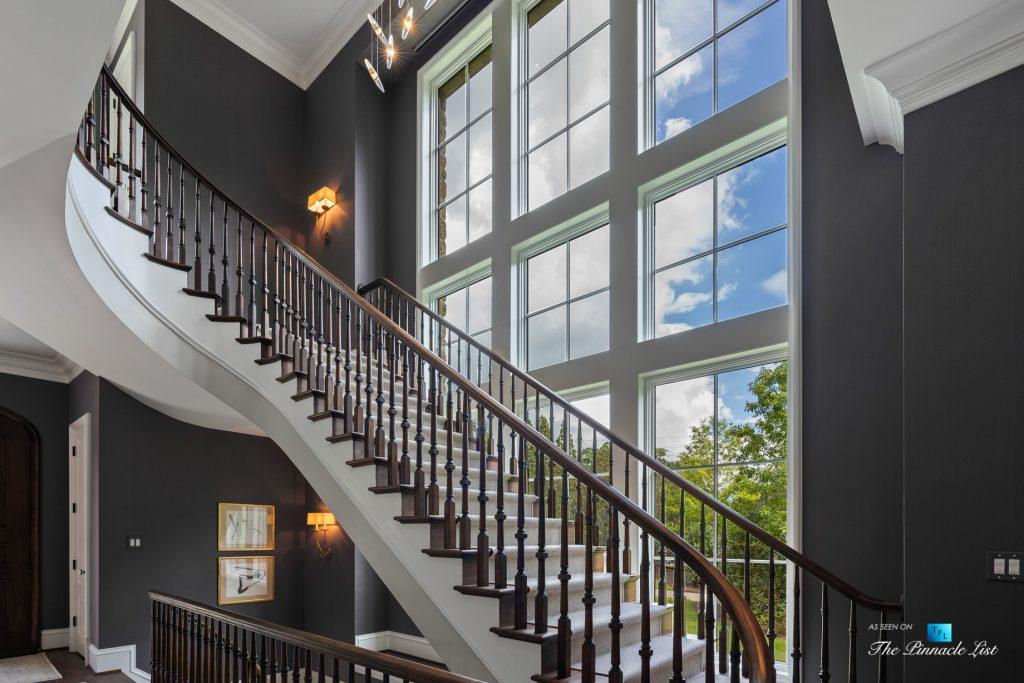 1150 W Garmon Rd, Atlanta, GA, USA - Foyer Stairs - Luxury Real Estate - Buckhead Estate Home