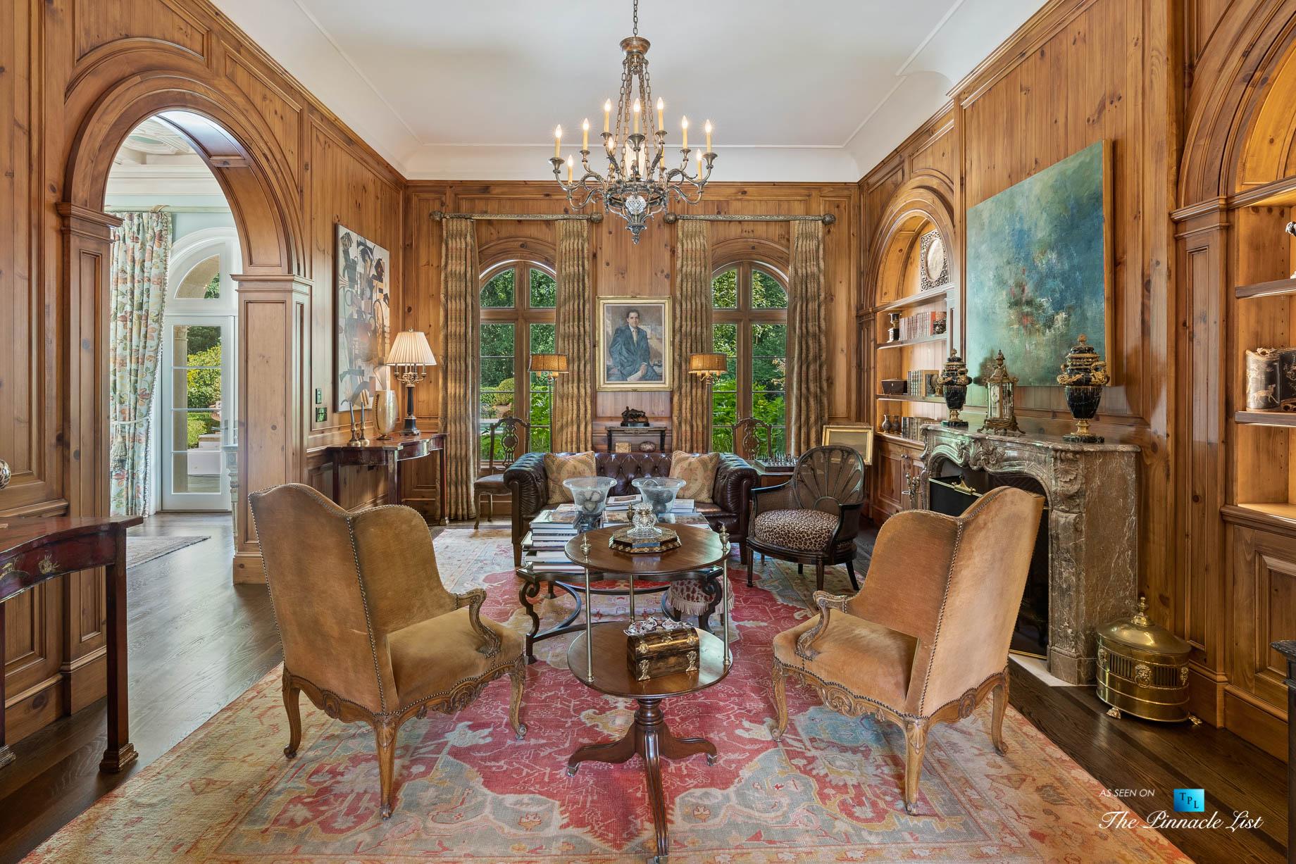 439 Blackland Rd NW, Atlanta, GA, USA - Formal Sitting Room - Luxury Real Estate - Tuxedo Park Mediterranean Mansion Home