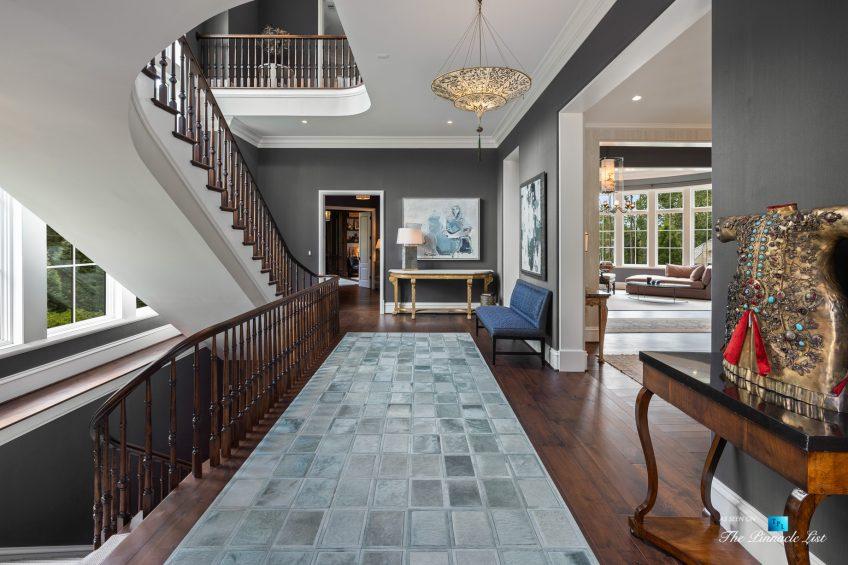 1150 W Garmon Rd, Atlanta, GA, USA - Entrance Foyer and Stairs - Luxury Real Estate - Buckhead Estate Home
