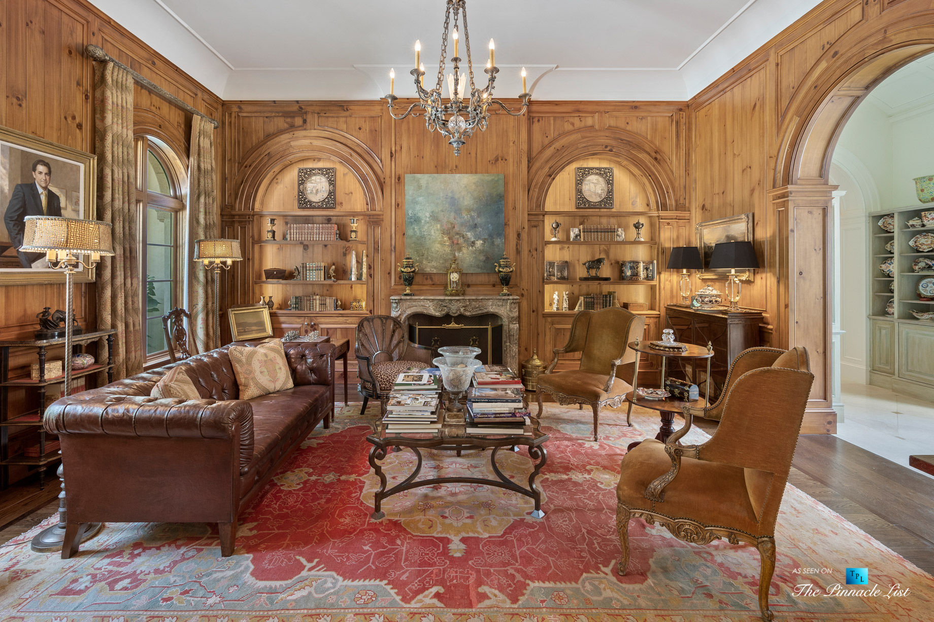 439 Blackland Rd NW, Atlanta, GA, USA – Formal Sitting Room with Fireplace – Luxury Real Estate – Tuxedo Park Mediterranean Mansion Home
