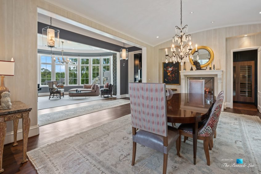 1150 W Garmon Rd, Atlanta, GA, USA - Dining Room View - Luxury Real Estate - Buckhead Estate Home