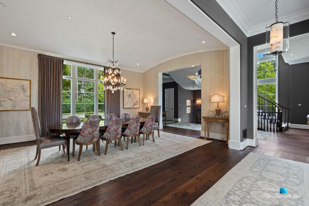 1150 W Garmon Rd, Atlanta, GA, USA - Dining Room and Foyer - Luxury Real Estate - Buckhead Estate Home