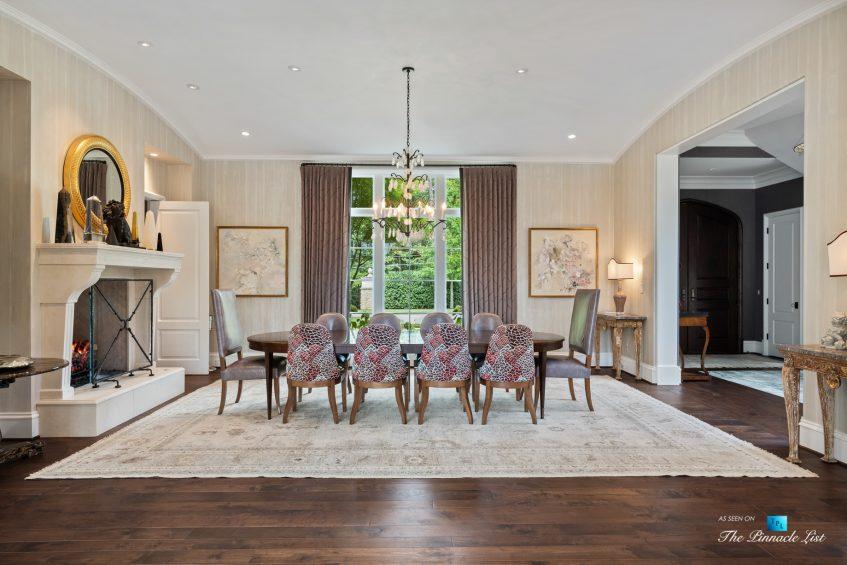 1150 W Garmon Rd, Atlanta, GA, USA - Dining Room Fireplace and Foyer - Luxury Real Estate - Buckhead Estate Home
