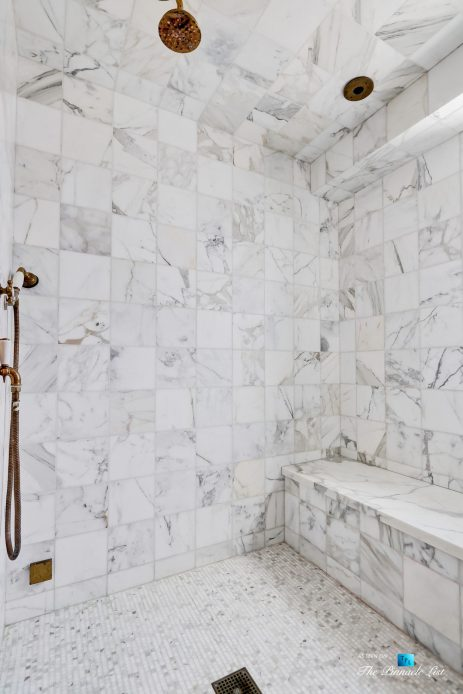 2806 The Strand, Hermosa Beach, CA, USA - Bathroom Marble Shower - Luxury Real Estate - Oceanfront Home