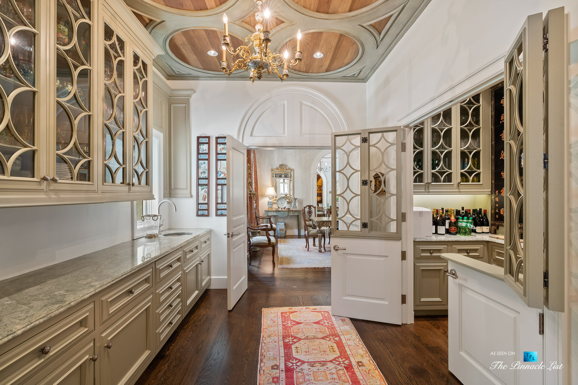 439 Blackland Rd NW, Atlanta, GA, USA – Formal Butlers Pantry Station – Luxury Real Estate – Tuxedo Park Mediterranean Mansion Home