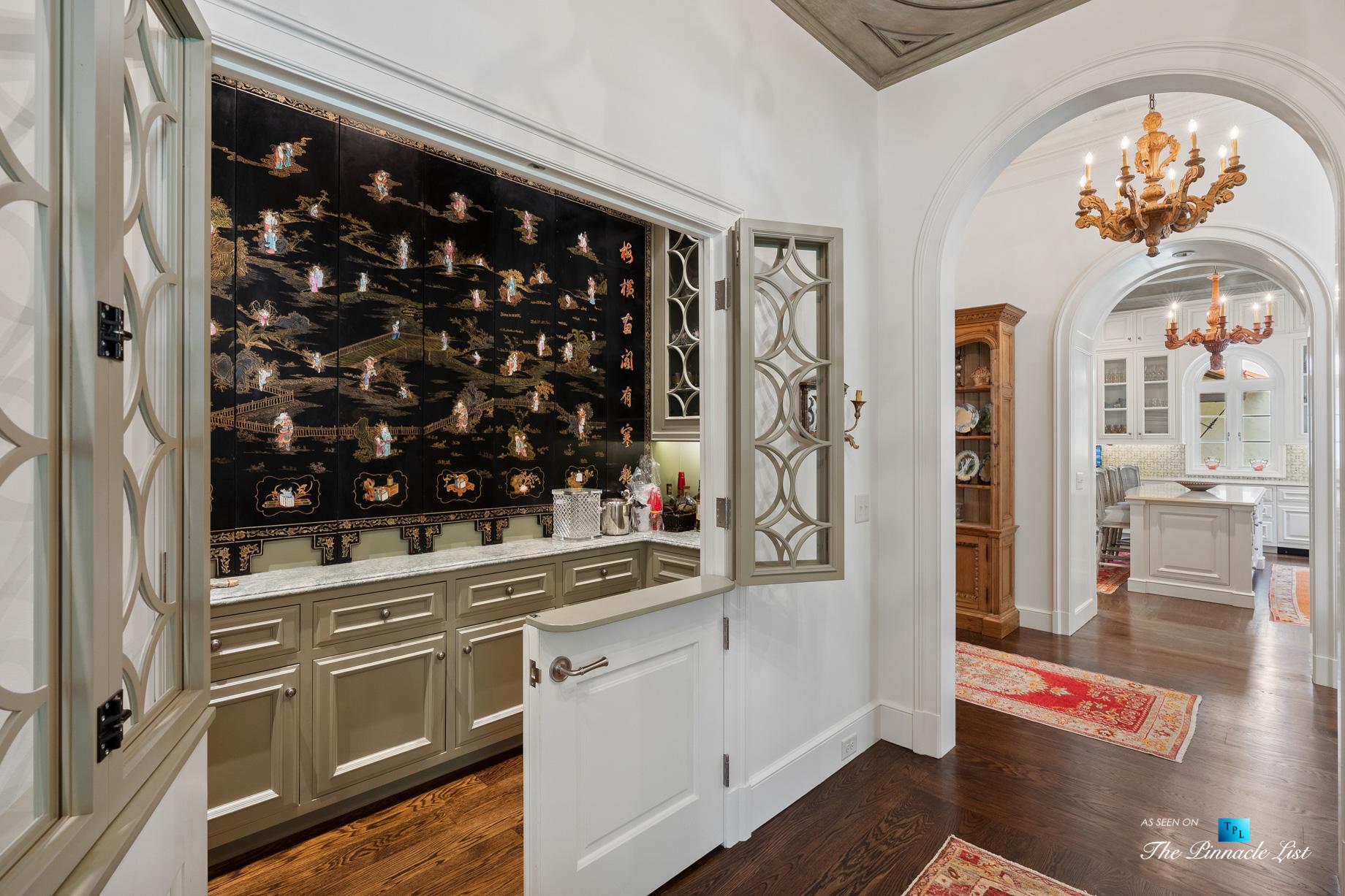 439 Blackland Rd NW, Atlanta, GA, USA – Formal Butlers Pantry Station – Luxury Real Estate – Tuxedo Park Mediterranean Mansion Home
