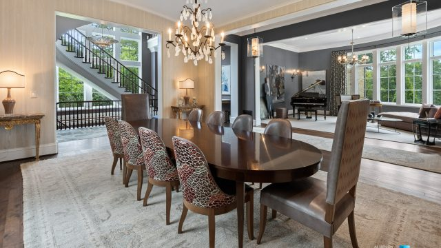 1150 W Garmon Rd, Atlanta, GA, USA - Dining Room and Living Room - Luxury Real Estate - Buckhead Estate Home