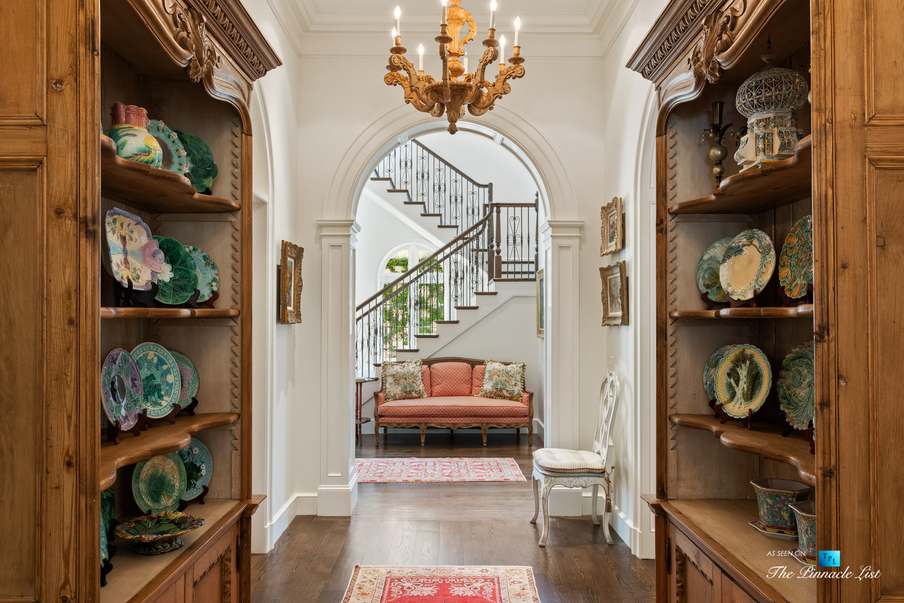 439 Blackland Rd NW, Atlanta, GA, USA – Hallway and Stairs – Luxury Real Estate – Tuxedo Park Mediterranean Mansion Home