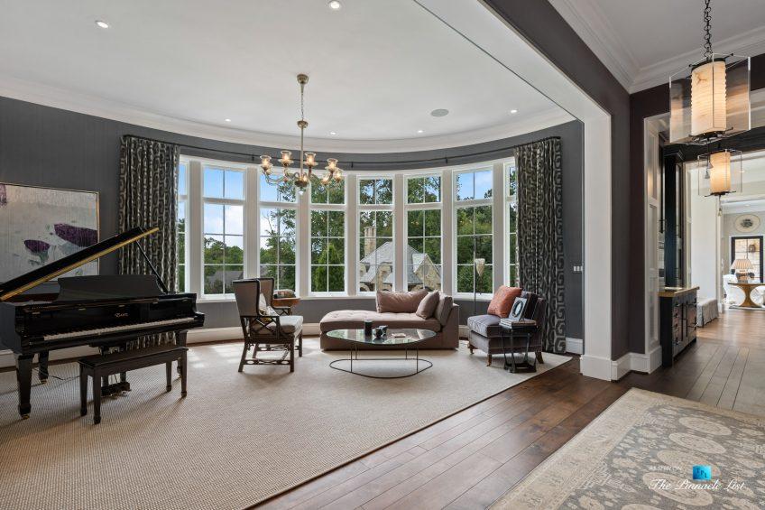 1150 W Garmon Rd, Atlanta, GA, USA - Piano Room - Luxury Real Estate - Buckhead Estate Home