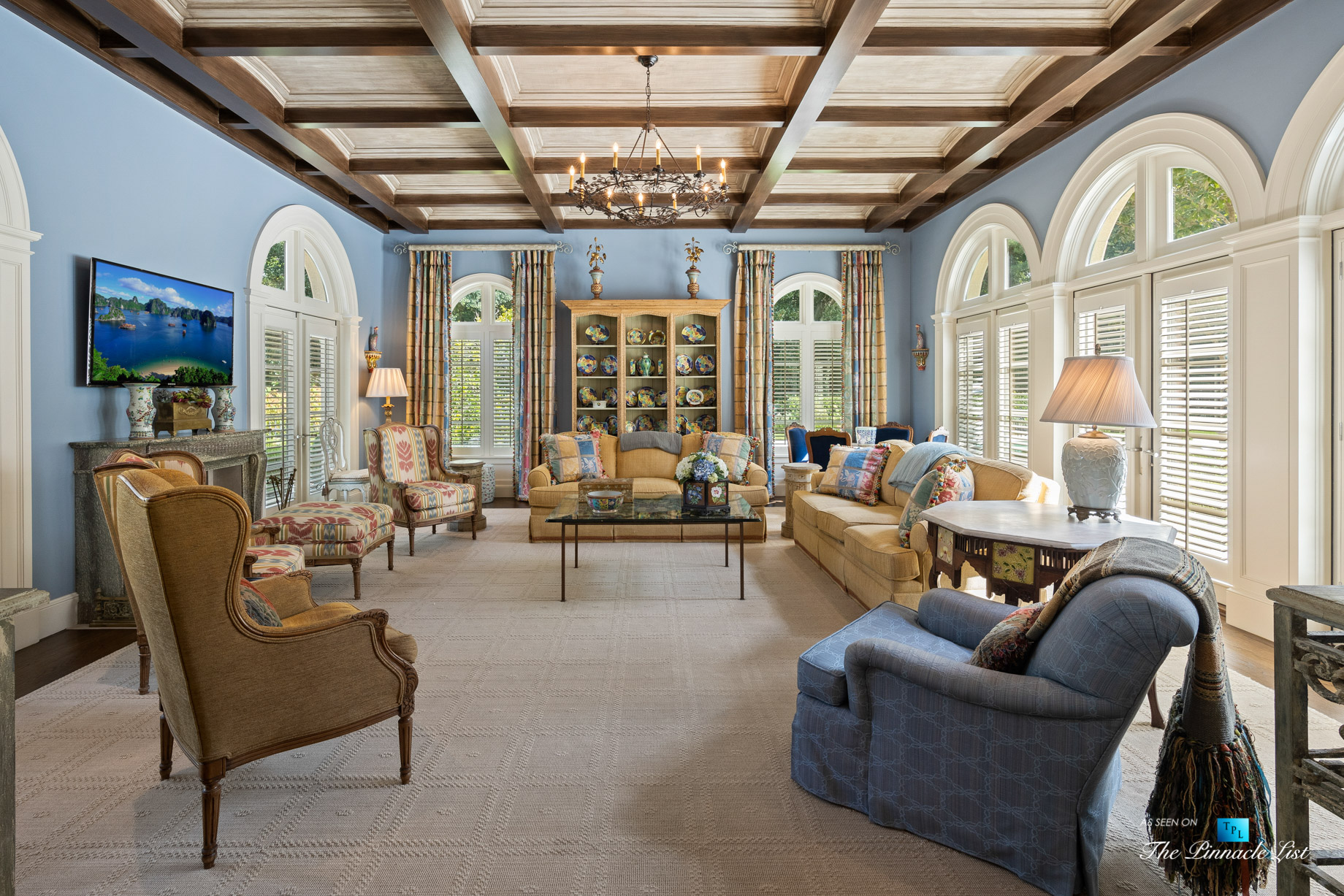 439 Blackland Rd NW, Atlanta, GA, USA – Living Room – Luxury Real Estate – Tuxedo Park Mediterranean Mansion Home