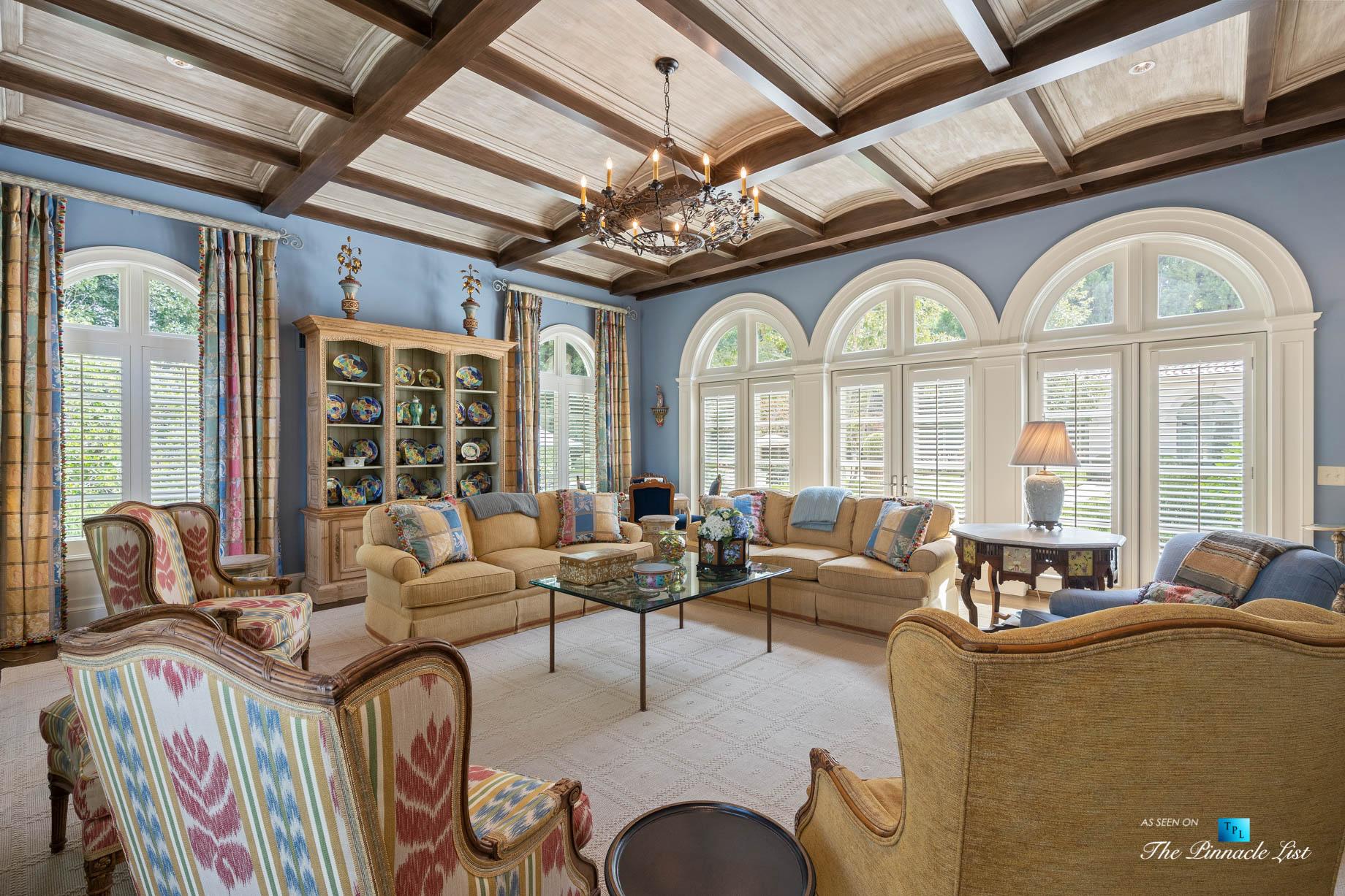 439 Blackland Rd NW, Atlanta, GA, USA – Living Room – Luxury Real Estate – Tuxedo Park Mediterranean Mansion Home