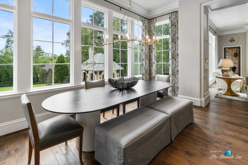 1150 W Garmon Rd, Atlanta, GA, USA - Kitchen Table Area - Luxury Real Estate - Buckhead Estate Home
