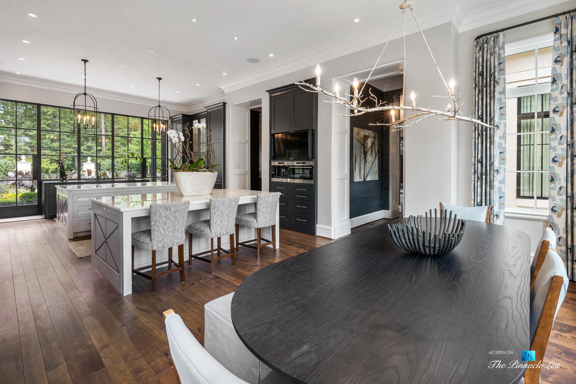 1150 W Garmon Rd, Atlanta, GA, USA – Kitchen with Table – Luxury Real Estate – Buckhead Estate Home