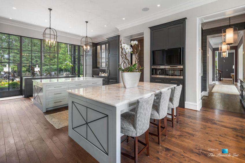 1150 W Garmon Rd, Atlanta, GA, USA - Kitchen Islands - Luxury Real Estate - Buckhead Estate Home