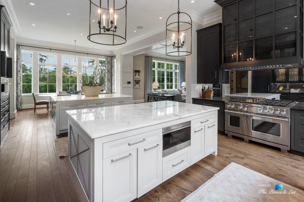 1150 W Garmon Rd, Atlanta, GA, USA - Kitchen Islands and Gas Range - Luxury Real Estate - Buckhead Estate Home