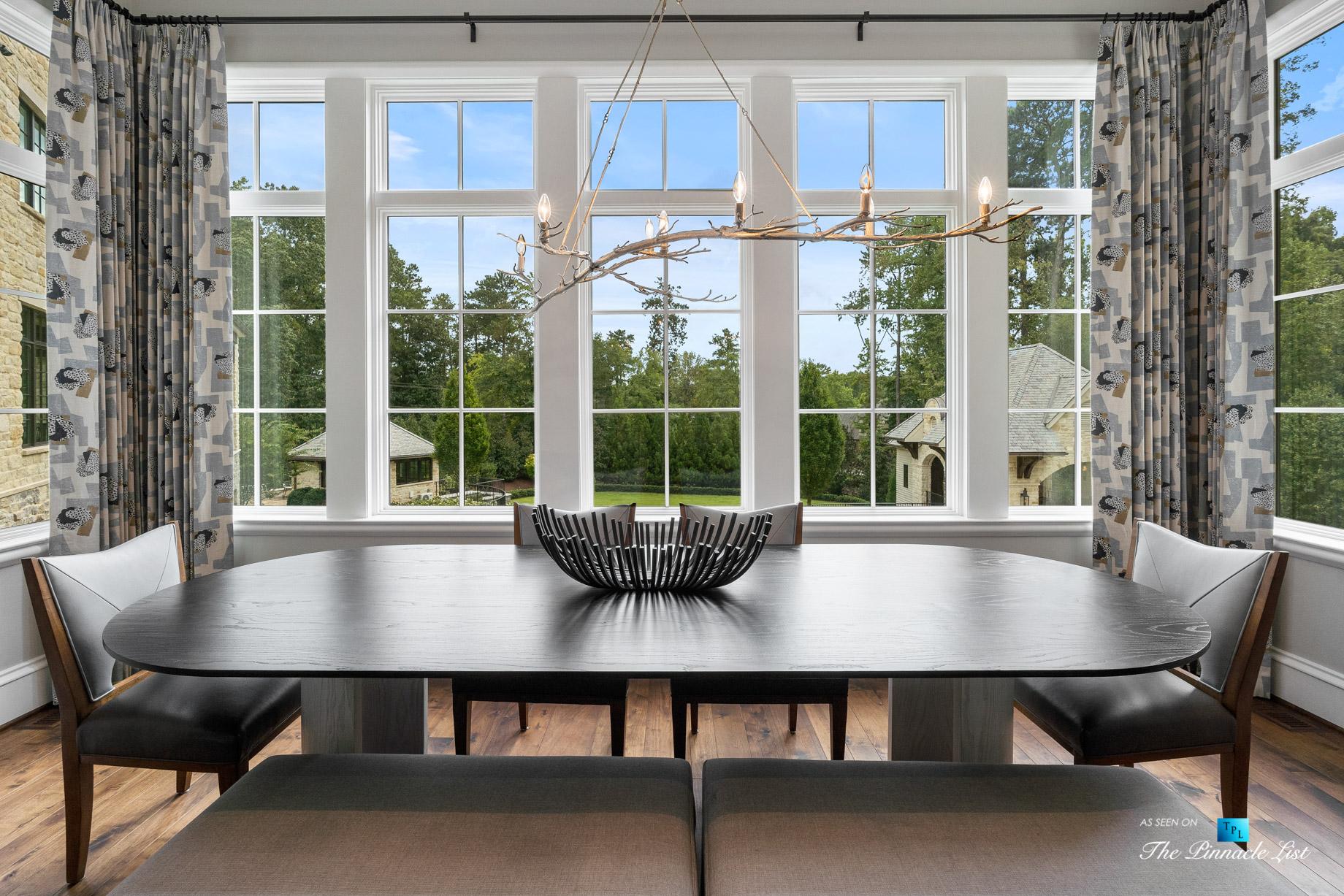 1150 W Garmon Rd, Atlanta, GA, USA – Kitchen Table View – Luxury Real Estate – Buckhead Estate Home