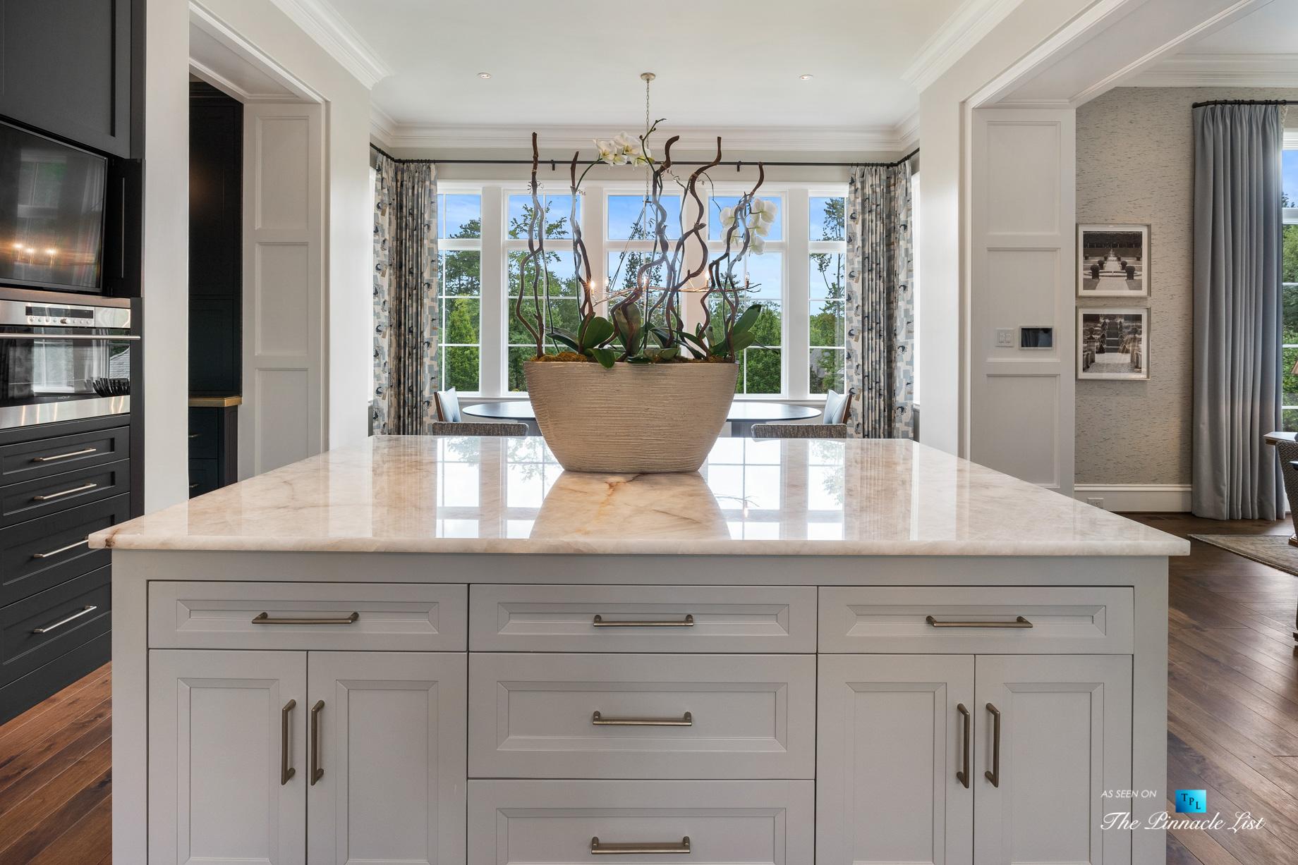 1150 W Garmon Rd, Atlanta, GA, USA - Kitchen Island View - Luxury Real Estate - Buckhead Estate Home