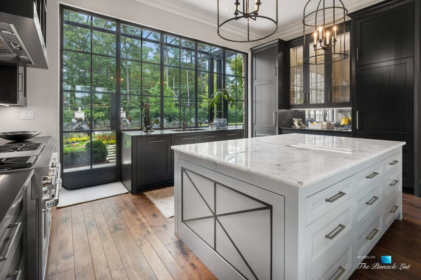 1150 W Garmon Rd, Atlanta, GA, USA - Formal Kitchen with Glass Window View - Luxury Real Estate - Buckhead Estate Home