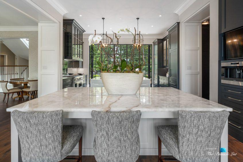 1150 W Garmon Rd, Atlanta, GA, USA - Formal Kitchen Island Seating with Window View - Luxury Real Estate - Buckhead Estate Home