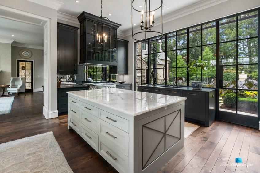 1150 W Garmon Rd, Atlanta, GA, USA - Kitchen Island with Window View - Luxury Real Estate - Buckhead Estate Home