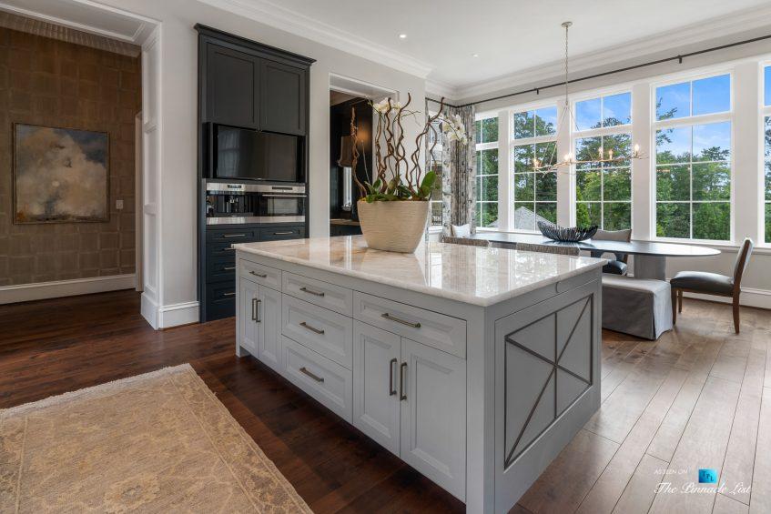 1150 W Garmon Rd, Atlanta, GA, USA - Luxurious Kitchen Island with Window View - Luxury Real Estate - Buckhead Estate Home