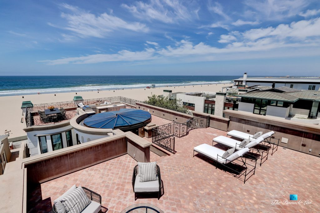 2806 The Strand, Hermosa Beach, CA, USA - Rooftop Deck with Retracting Atrium Window - Luxury Real Estate - Oceanfront Home