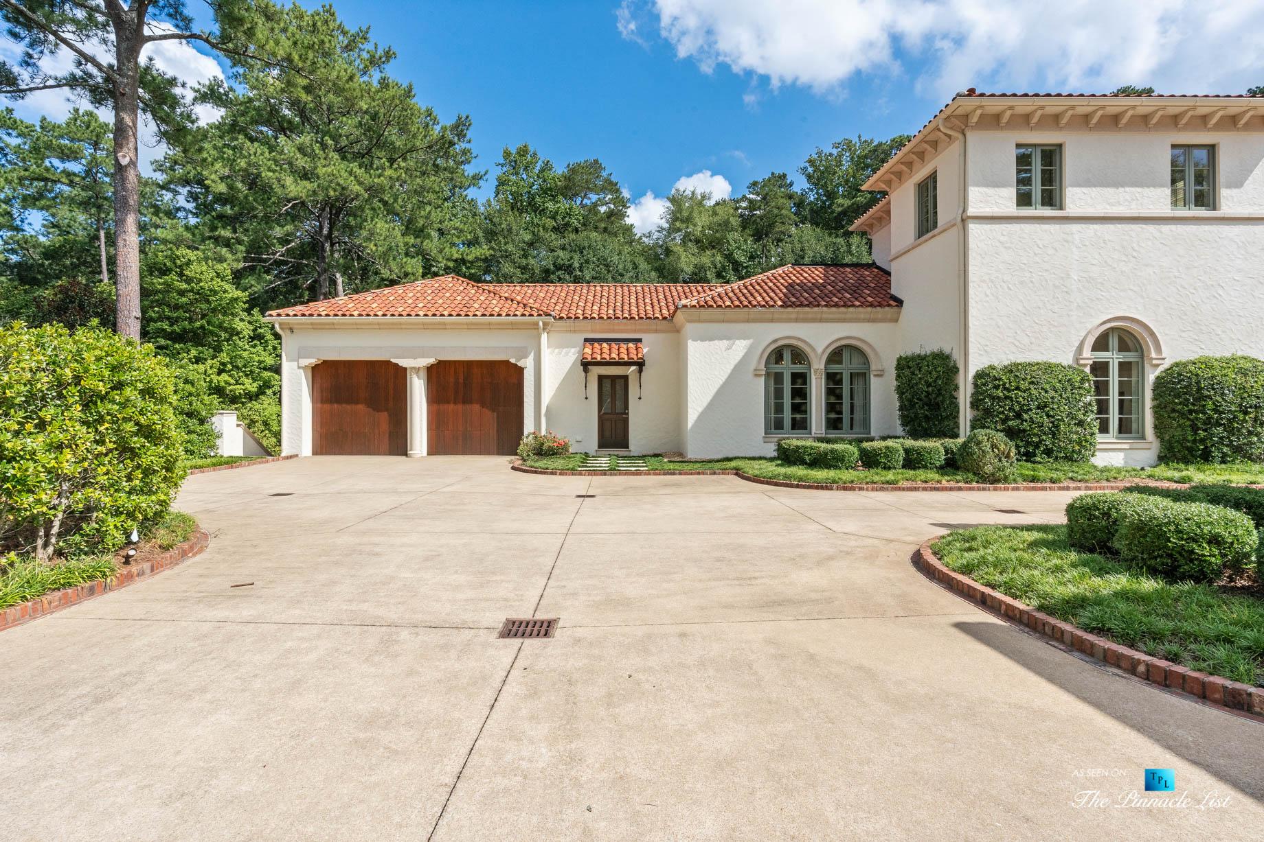439 Blackland Rd NW, Atlanta, GA, USA - Driveway and Garage - Luxury Real Estate - Tuxedo Park Mediterranean Mansion Home