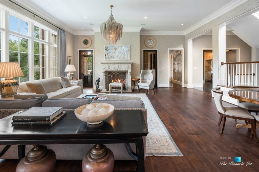 1150 W Garmon Rd, Atlanta, GA, USA - Luxurious Family Room with Fireplace - Luxury Real Estate - Buckhead Estate Home