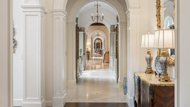 439 Blackland Rd NW, Atlanta, GA, USA - Luxurious Hallway Chandelier - Luxury Real Estate - Tuxedo Park Mediterranean Mansion Home