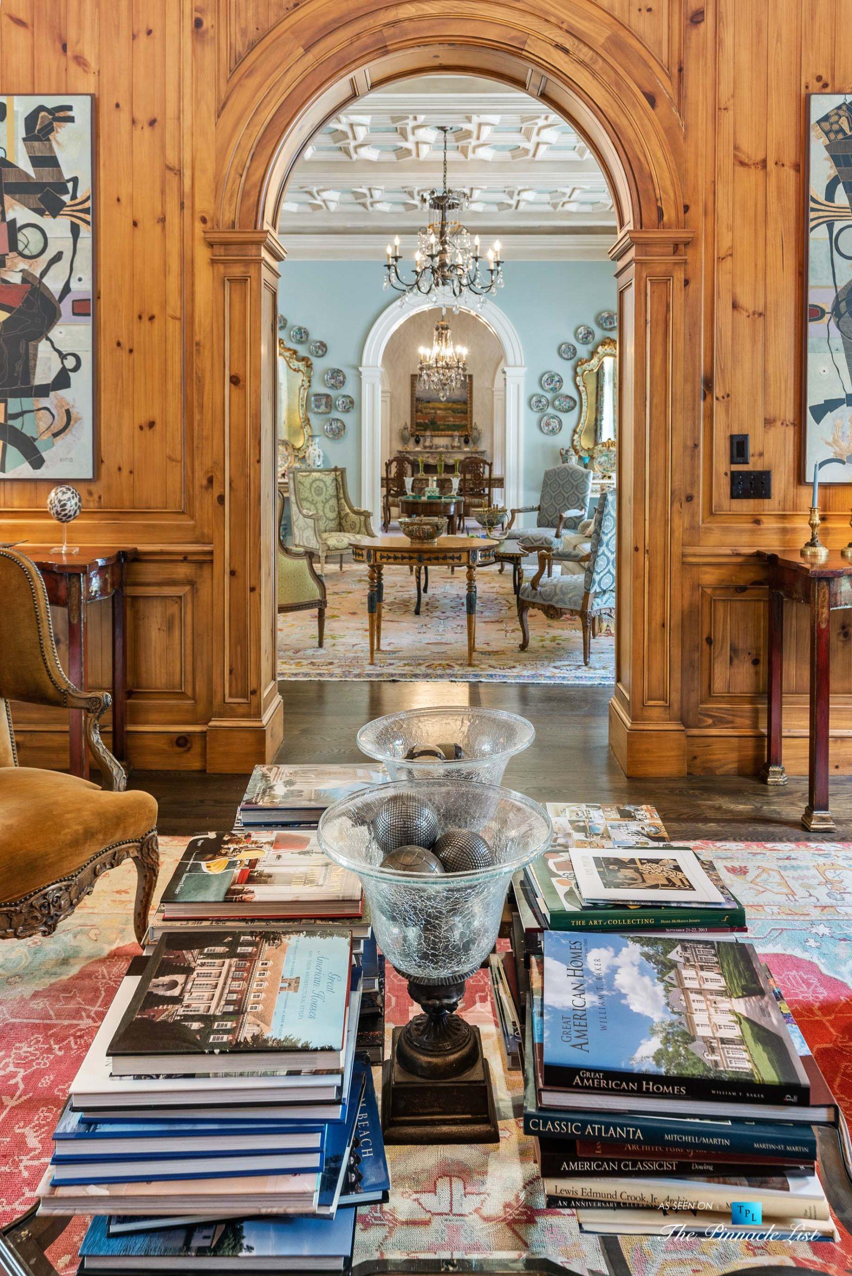 439 Blackland Rd NW, Atlanta, GA, USA – Luxurious Den – Luxury Real Estate – Tuxedo Park Mediterranean Mansion Home