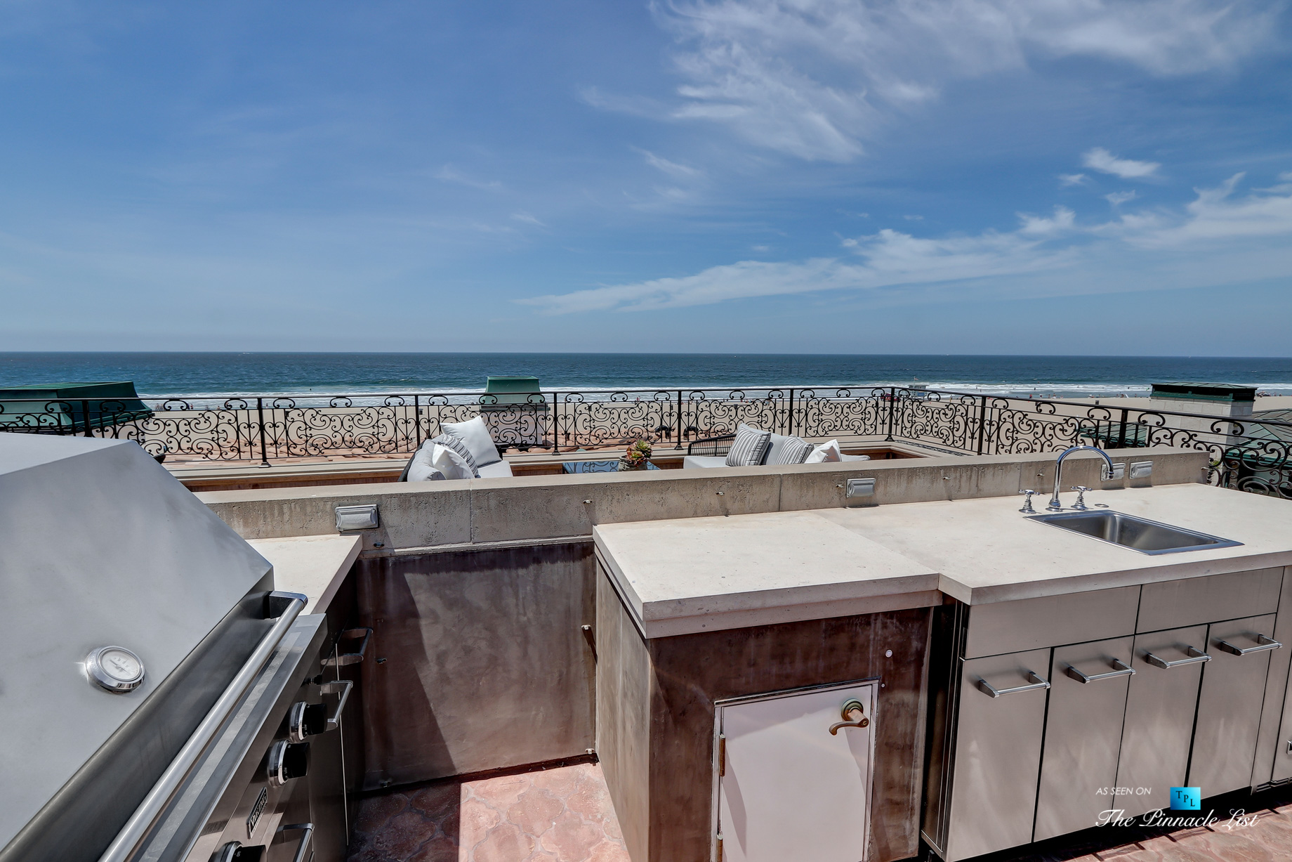 Luxury Real Estate - 2806 The Strand, Hermosa Beach, CA, USA - Roof Deck Kitchen