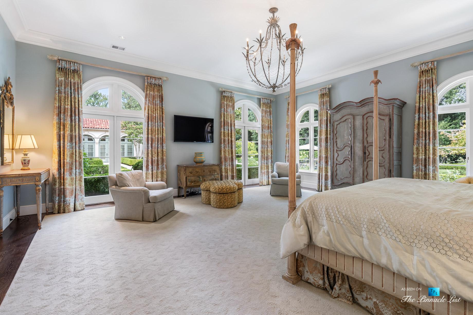 439 Blackland Rd NW, Atlanta, GA, USA - Master Bedroom - Luxury Real Estate - Tuxedo Park Mediterranean Mansion Home