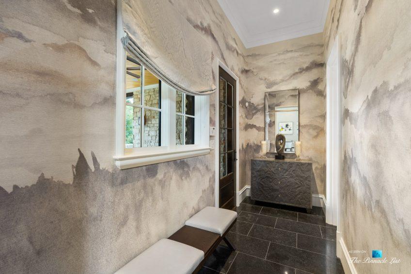 1150 W Garmon Rd, Atlanta, GA, USA - Side Entrance Interior Hallway - Luxury Real Estate - Buckhead Estate Home